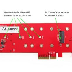 Ableconn PEXM2-SSD M.2 NGFF PCIe SSD to PCI Express 3.0 x4 Host Adapter Card